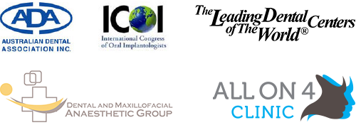 Australian Dental Association, International Congress of Oral Implantologists, The Leading Dental Centers of the World, Dental and Maxillofacial Anaesthetic Group, All On 4 Clinic